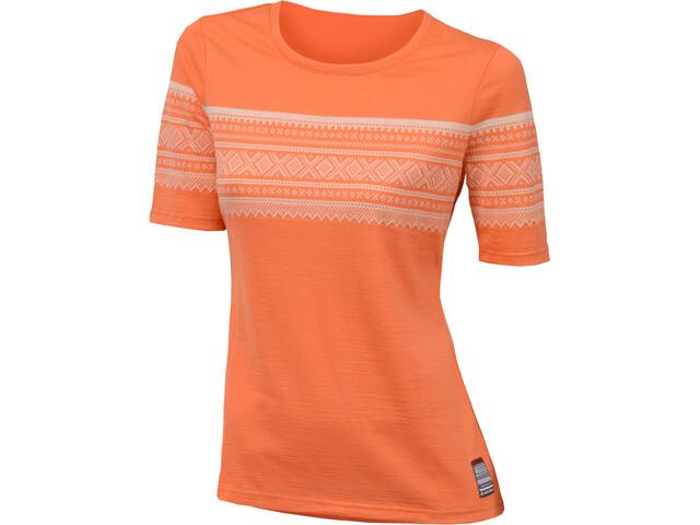 Aclima DesignWool Marius T-shirt Dame coral rose